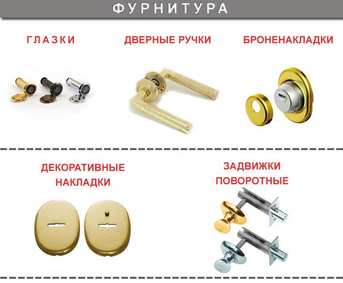 Фурнитура для металлических дверей в Одинцово