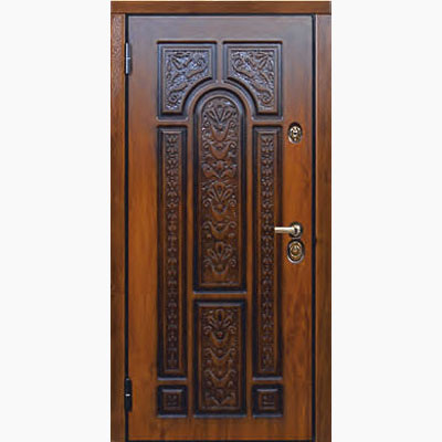 Панель для входных дверей ламинированная с объемным декором Д-19