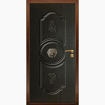 Панель для входных дверей ламинированная с объемным декором Д-3