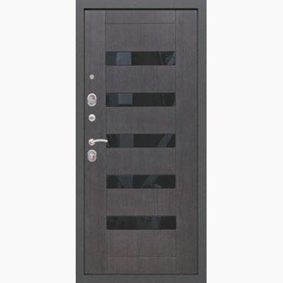 Панель для входных дверей ламинированная со вставками из стекла ФЛС-1