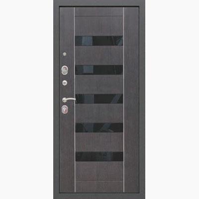 Панель для входных дверей ламинированная со вставками из стекла ФЛС-4
