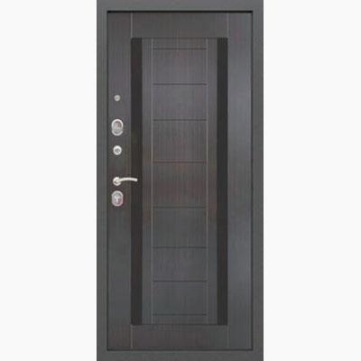 панель для входных дверей ламинированная со вставками из стекла флс 6