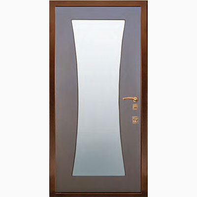 Панель для входных дверей ламинированная с зеркалом ФЛЗ-146
