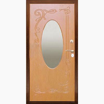 Панель для входных дверей ламинированная с зеркалом ФЛЗ-152