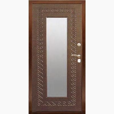 Панель для входных дверей ламинированная с зеркалом ФЛЗ-153