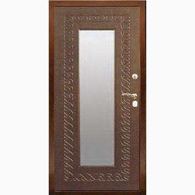 Панель для входных дверей ламинированная с зеркалом ФЛЗ-156