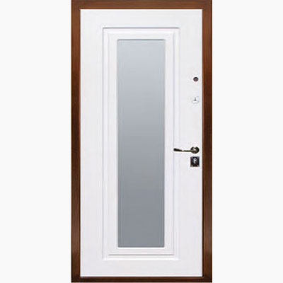 Панель для входных дверей ламинированная с зеркалом ФЛЗ-157