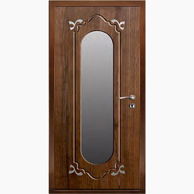 Панель для входных дверей ламинированная с зеркалом ФЛЗ-190