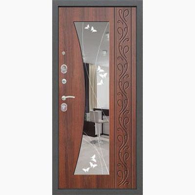 Панель для входных дверей ламинированная с зеркалом ФЛЗ-194