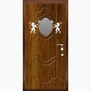 Панель для входных дверей ламинированная с зеркалом ФЛЗ-198