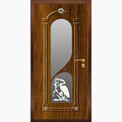 Панель для входных дверей ламинированная с зеркалом ФЛЗ-201