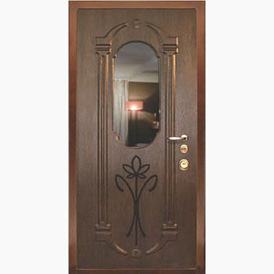 Панель для входных дверей ламинированная с зеркалом ФЛЗ-202