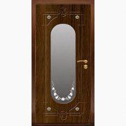 Панель для входных дверей ламинированная с зеркалом ФЛЗ-203