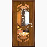Панель для входных дверей ламинированная с зеркалом ФЛЗ-210
