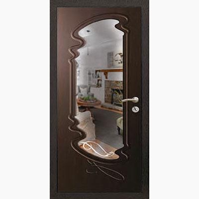 Панель для входных дверей ламинированная с зеркалом ФЛЗ-211