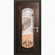 Панель для входных дверей ламинированная с зеркалом ФЛЗ-214