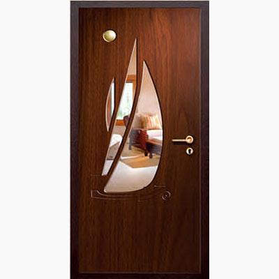 Панель для входных дверей ламинированная с зеркалом ФЛЗ-220