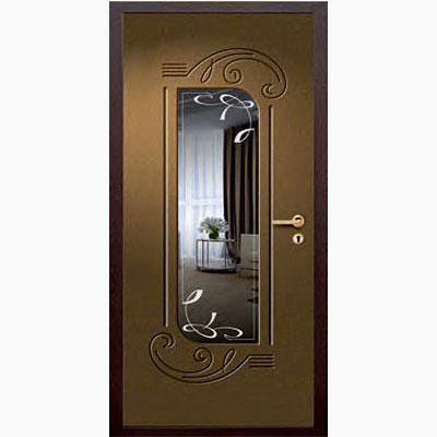 Панель для входных дверей ламинированная с зеркалом ФЛЗ-225