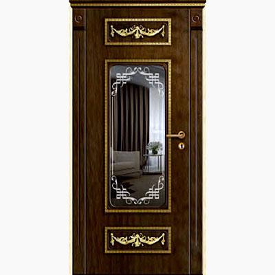 Панель для входных дверей ламинированная с зеркалом ФЛЗ-227