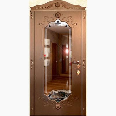 Панель для входных дверей ламинированная с зеркалом ФЛЗ-229