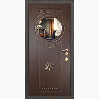 Панель для входных дверей ламинированная с зеркалом ФЛЗ-232