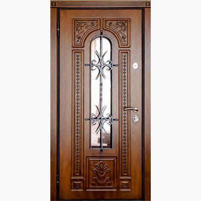 Панель для входных дверей декор с коваными элементами ЛК-9
