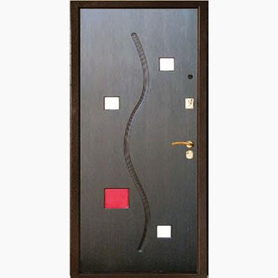 Панель для входных дверей объемная многоцветная ОМ-6
