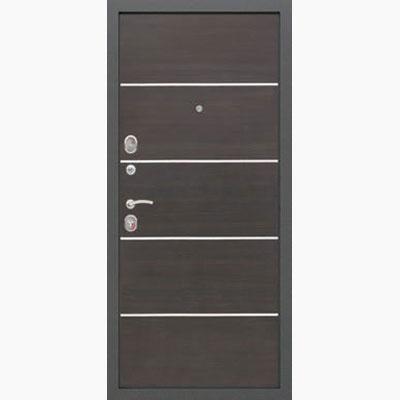 Панель для входных дверей ламинированная с молдингами В-11