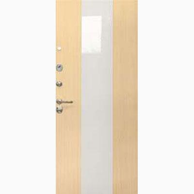 Панель для входных дверей ламинированная со вставками из стекла ФЛС-12