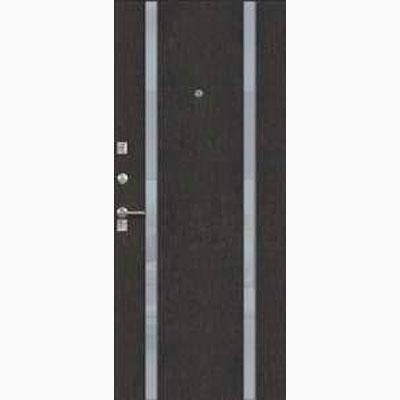Панель для входных дверей ламинированная со вставками из стекла ФЛС-13