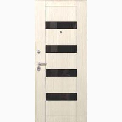 Панель для входных дверей ламинированная со вставками из стекла ФЛС-2