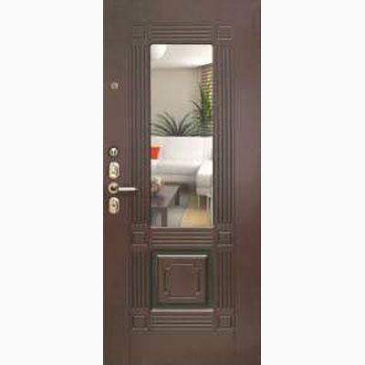 Панель для входных дверей ламинированная с зеркалом ФЛЗ-241