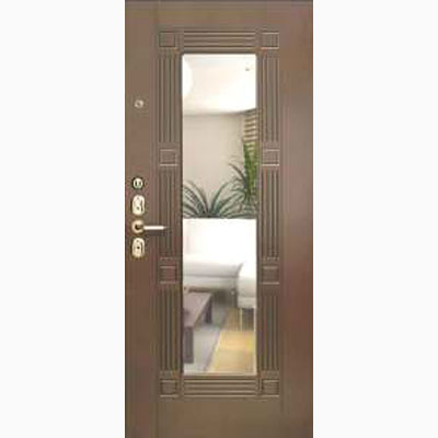 Панель для входных дверей ламинированная с зеркалом ФЛЗ-242