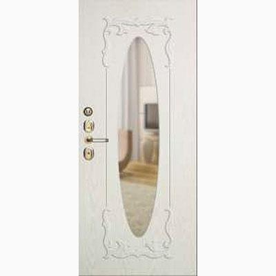 Панель для входных дверей ламинированная с зеркалом ФЛЗ-245