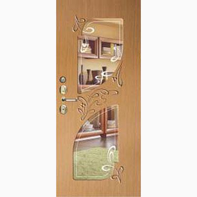 Панель для входных дверей ламинированная с зеркалом ФЛЗ-247