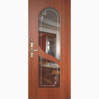 Панель для входных дверей ламинированная с зеркалом ФЛЗ-248