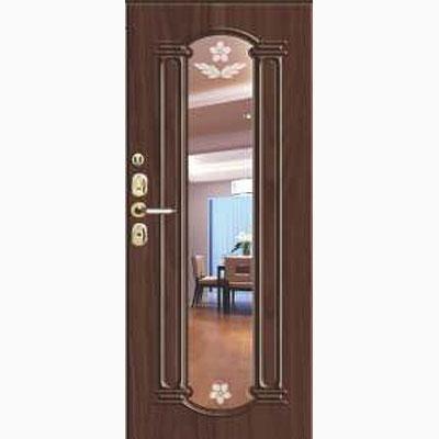 Панель для входных дверей ламинированная с зеркалом ФЛЗ-249
