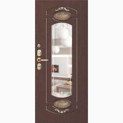 Панель для входных дверей ламинированная с зеркалом ФЛЗ-250