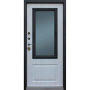 Стальная дверь «Добрыня 28» окно с терморазрывом