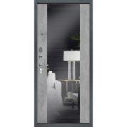 Стальная дверь «Добрыня 5/2» с зеркалом