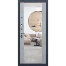 Стальная дверь «Добрыня 24» с зеркалом