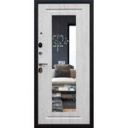Стальная дверь «Добрыня 26» с зеркалом