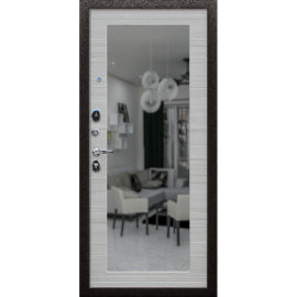 Стальная дверь «Добрыня 5/1» с зеркалом